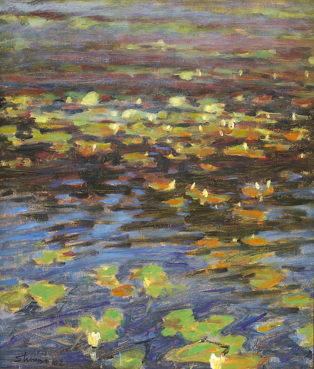 Lilypads   | oil on panel |13.5 x 11.5"