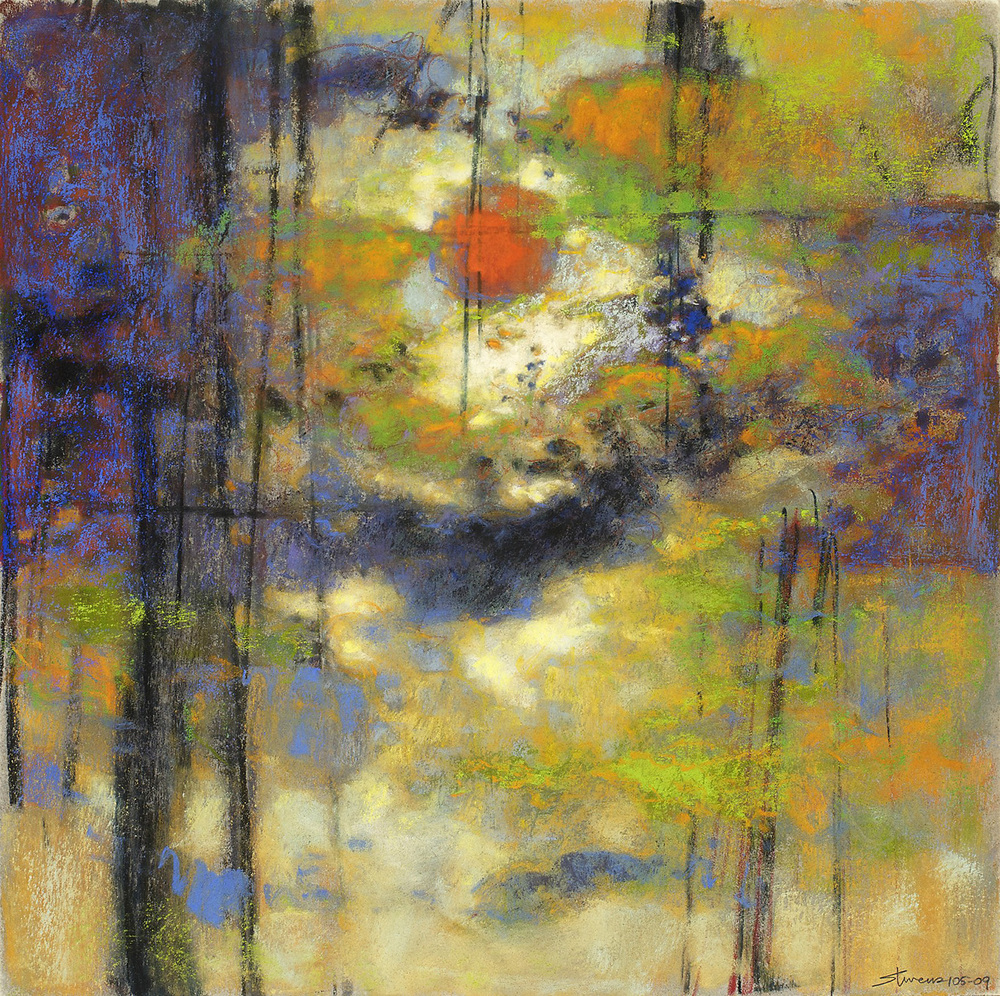 "105-09   | pastel on paper | 14 x 14"" | 2009"