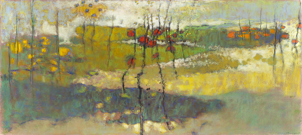 Calling Down the Sky   | pastel on paper | 18 x 40"