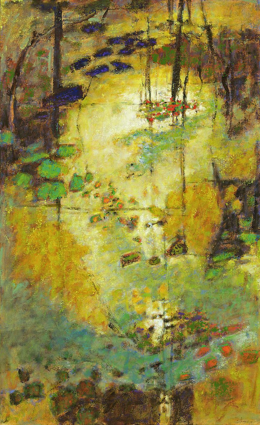 "Golden Portal   | oil on canvas | 52 x 32"" | 2010"