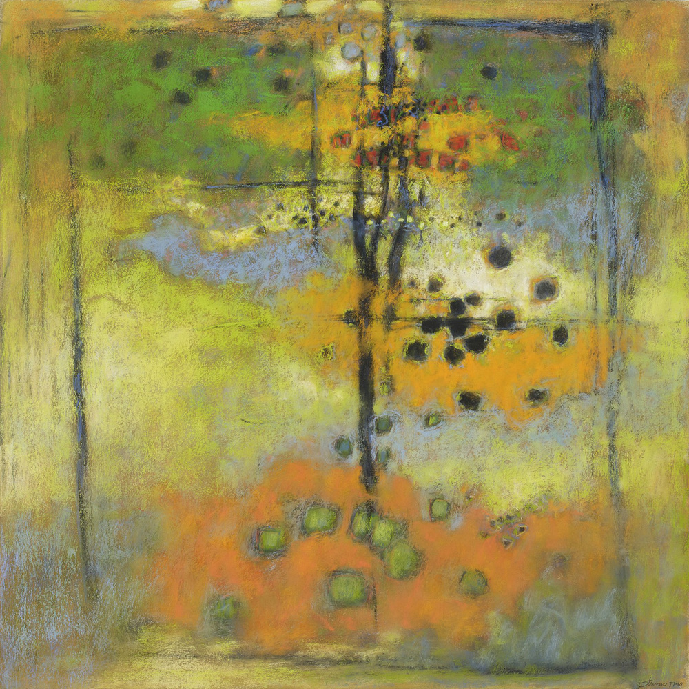 Silent Conversations | pastel on paper | 26 x 26"