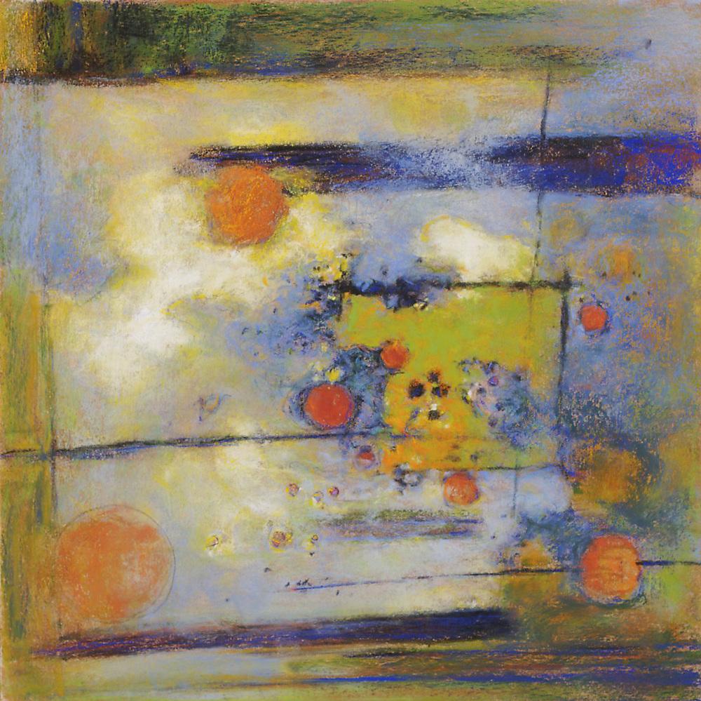 "Gathering Atmosphere   | pastel on paper | 14 x 14"" | 2008"