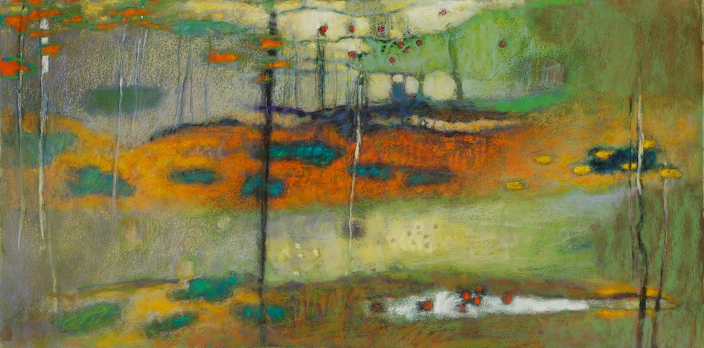 Here and There | pastel on paper | 20 x 40"