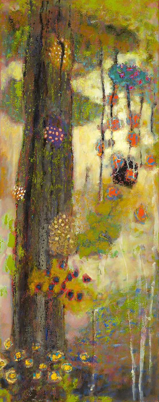 "Backwood Fusion   | oil on canvas | 48 x 19"" | 2015"