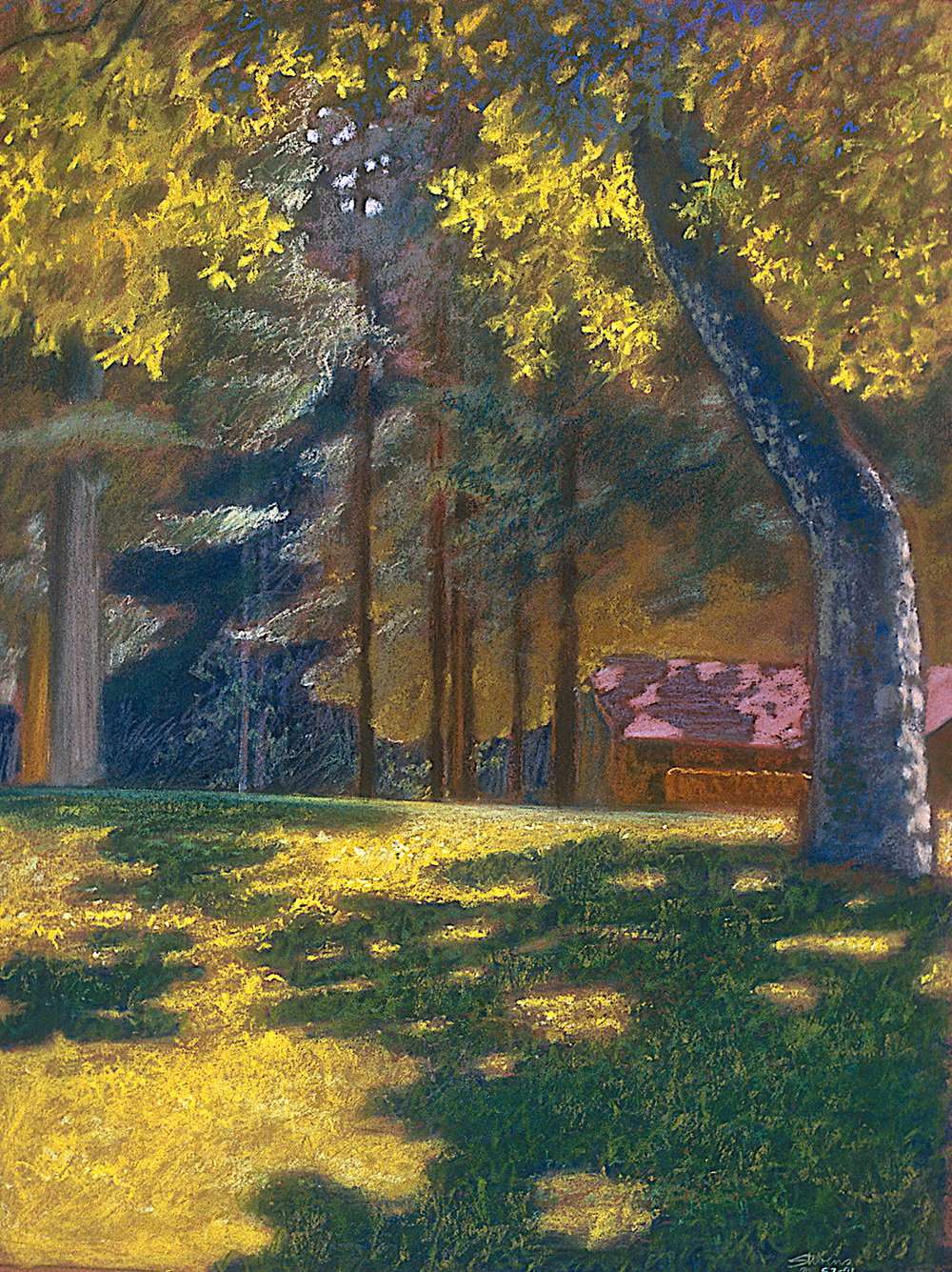 "Grose Park | pastel on paper | 22 x 17"" | 1991"