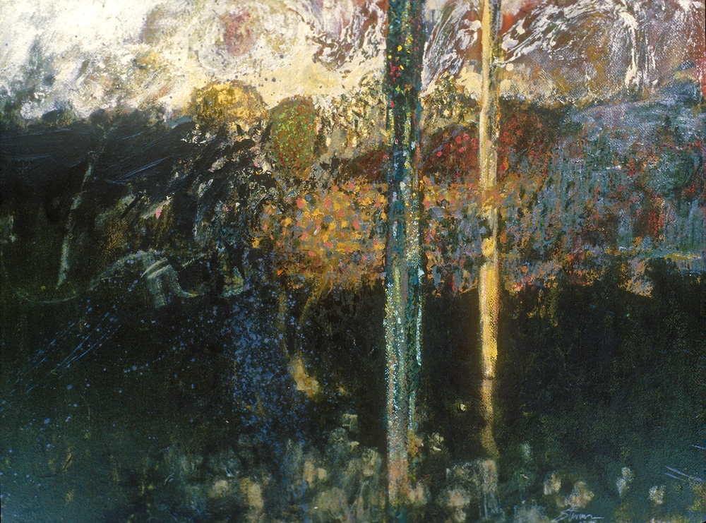 Angels of the Forest   | mixed media 25 x 33"