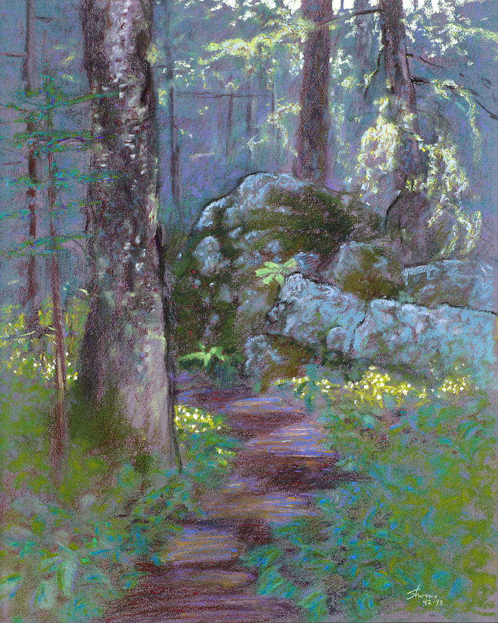 Trail to Lookout   | pastel on paper | 18 x 15"