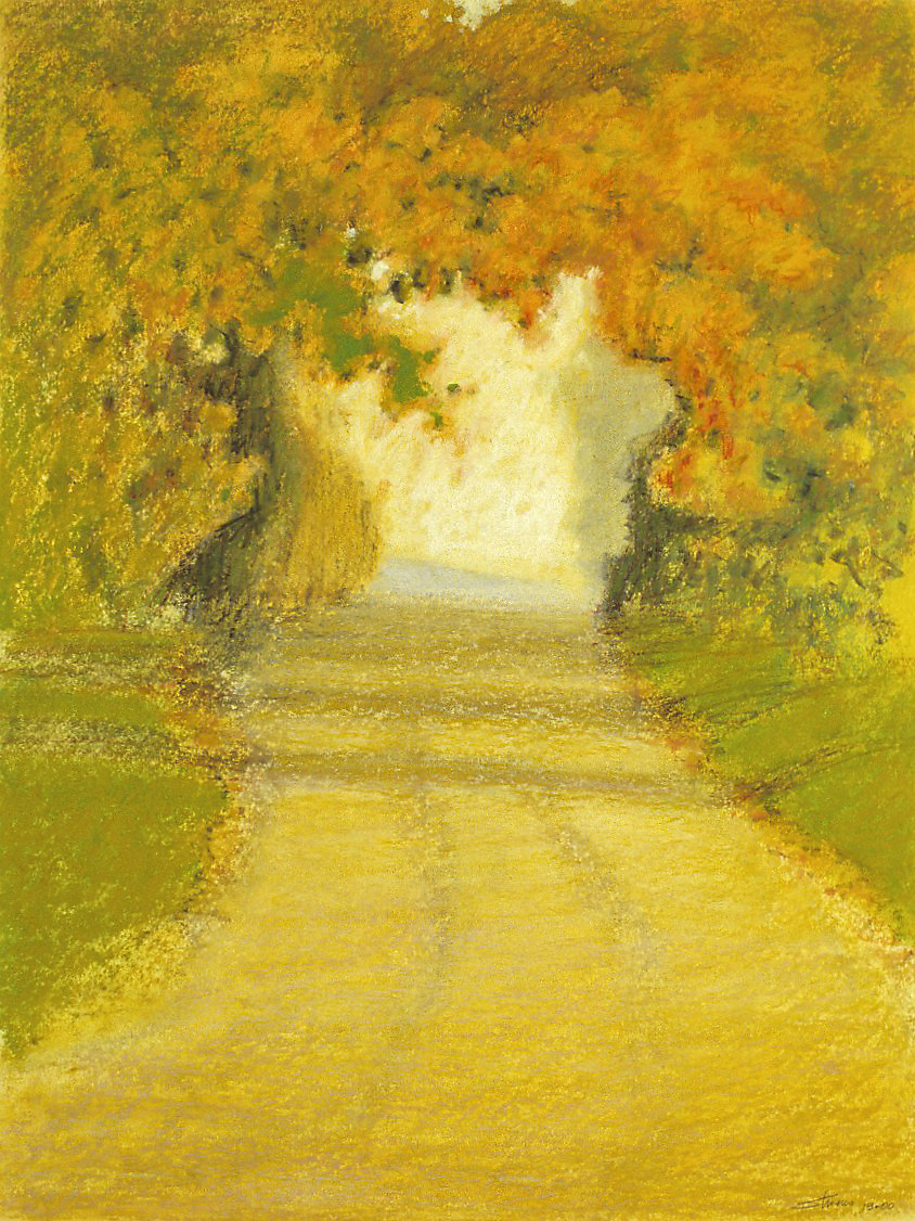Country Road   | oil pastel | 20 x 15"