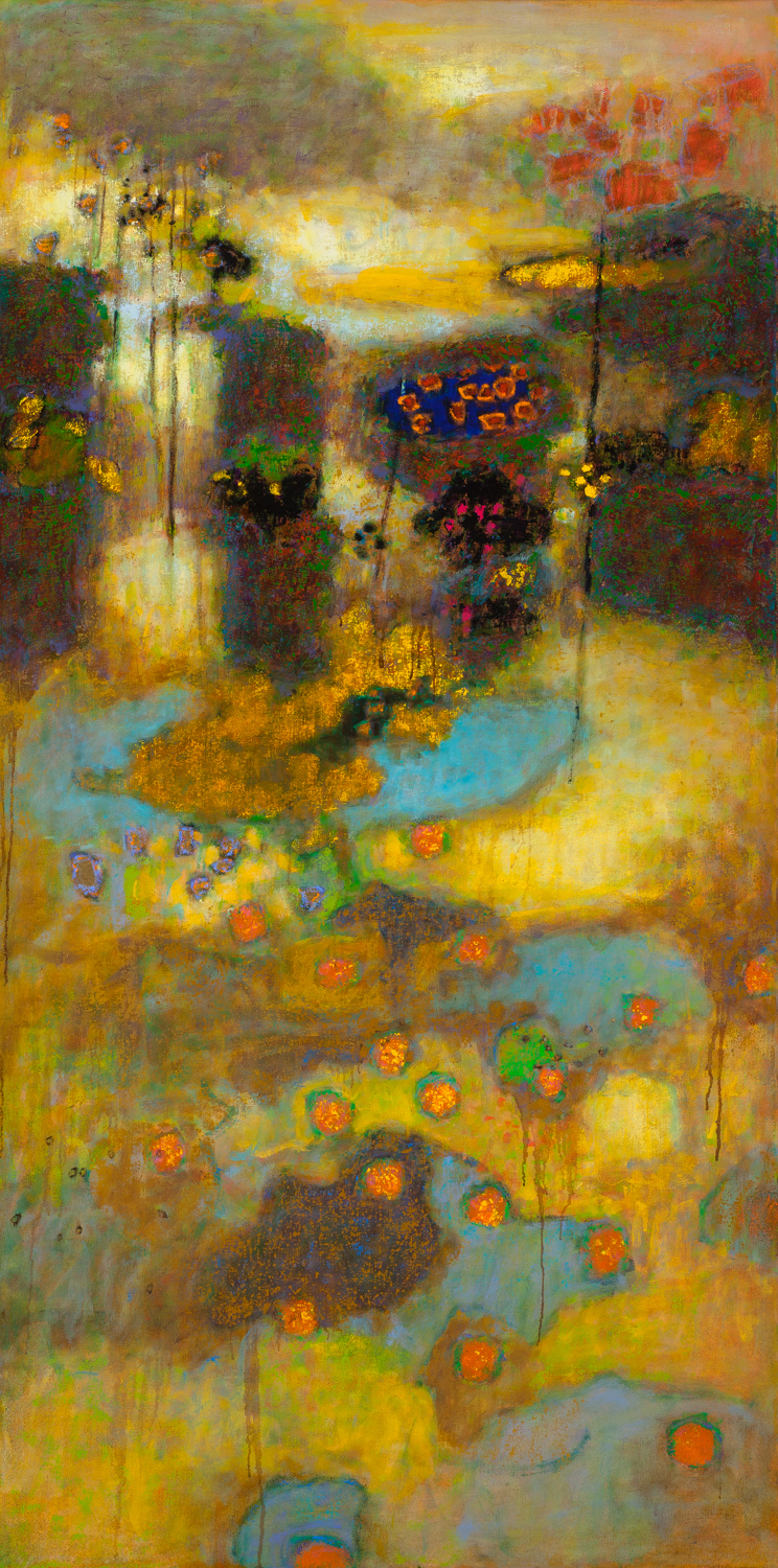 Suspended Stability   | oil on canvas | 72 x 36"