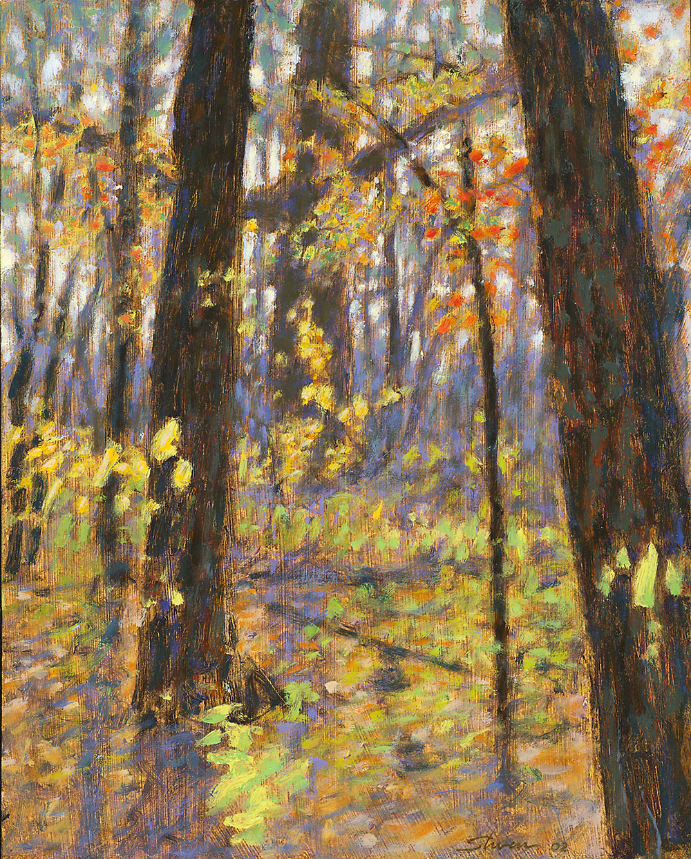 Woods In Spring | oil on panel | 15 x 12"