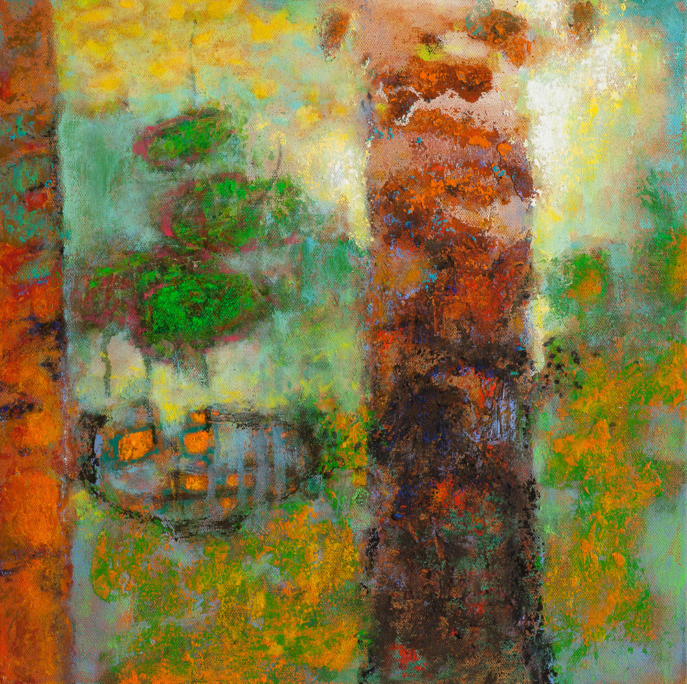 Amazon Ceremony   | oil on canvas | 14 x 14"