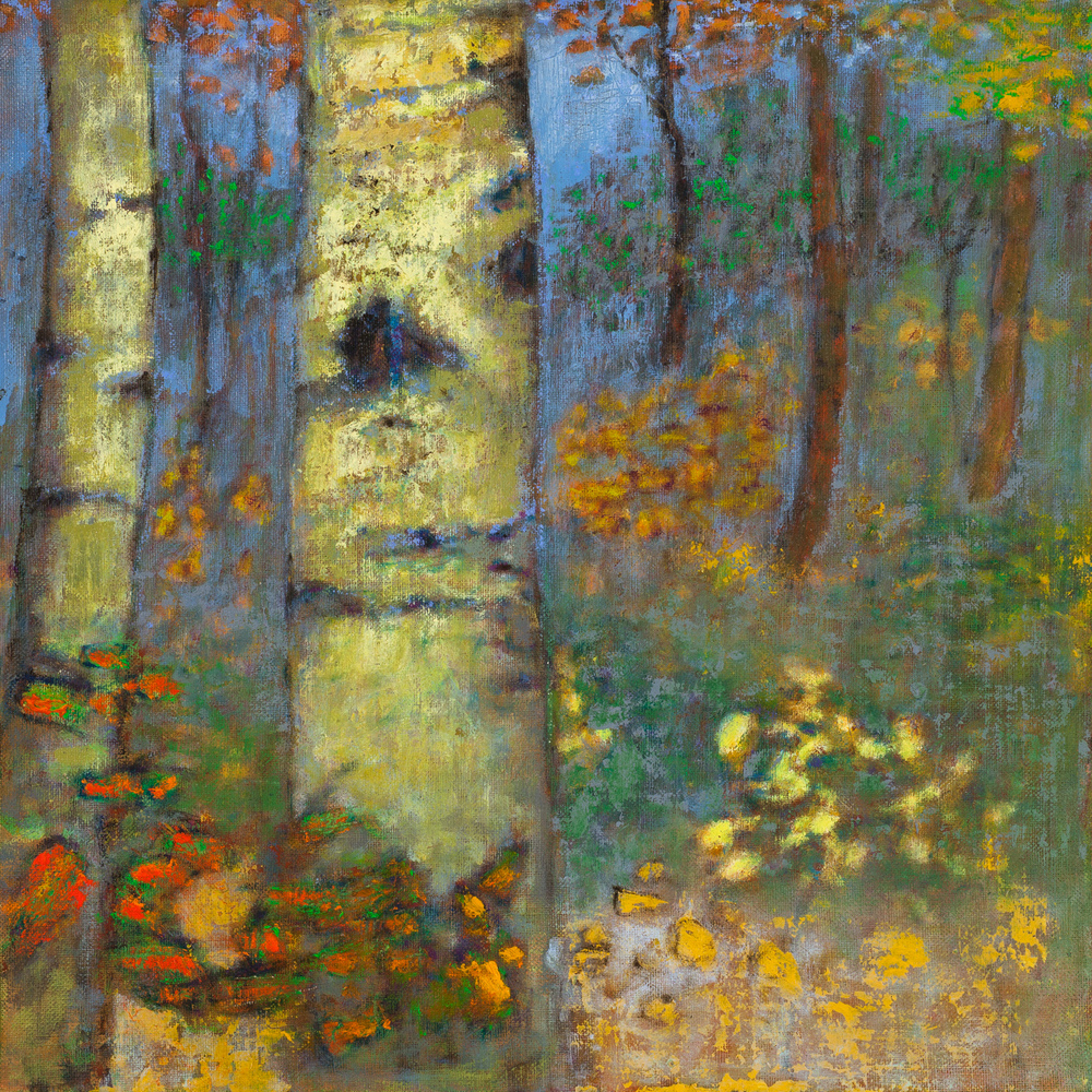 Aspen Ceremony   | oil on linen | 14 x 14"