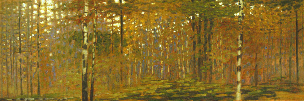 September in the Forest | oil on canvas | 20 x 60"
