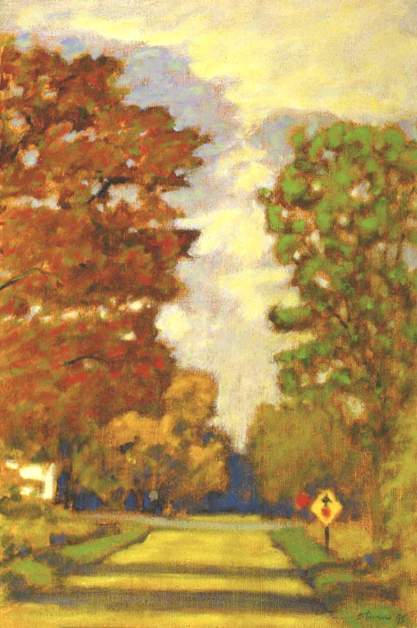 Country Road in Fall   | oil on  canvas | 18 x 12"