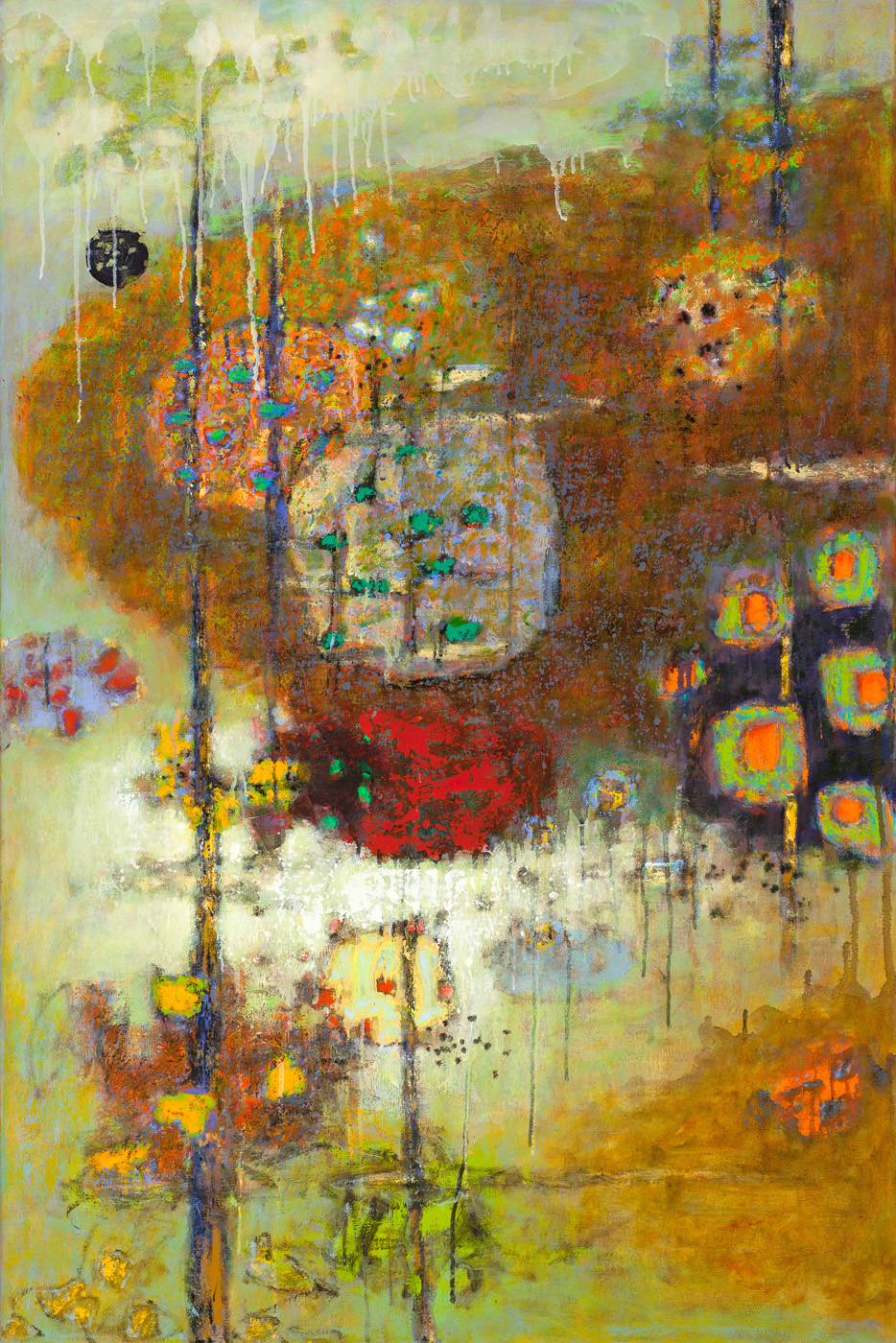 Latitudinal Interaction | oil on canvas | 48 x 32"