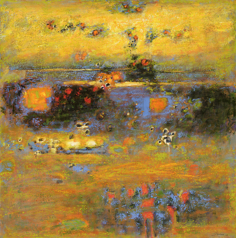 Evening Falls   | oil on canvas | 28 x 28"