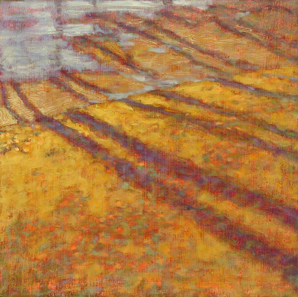 Long Shadows   | oil on paper | 14 x 14"