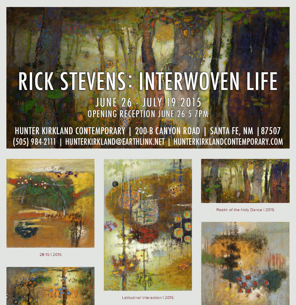 Rick's 10th exhibition at Hunter Kirkland opens tomorrow, you can preview the show by clicking on the image or here:  Interwoven Life