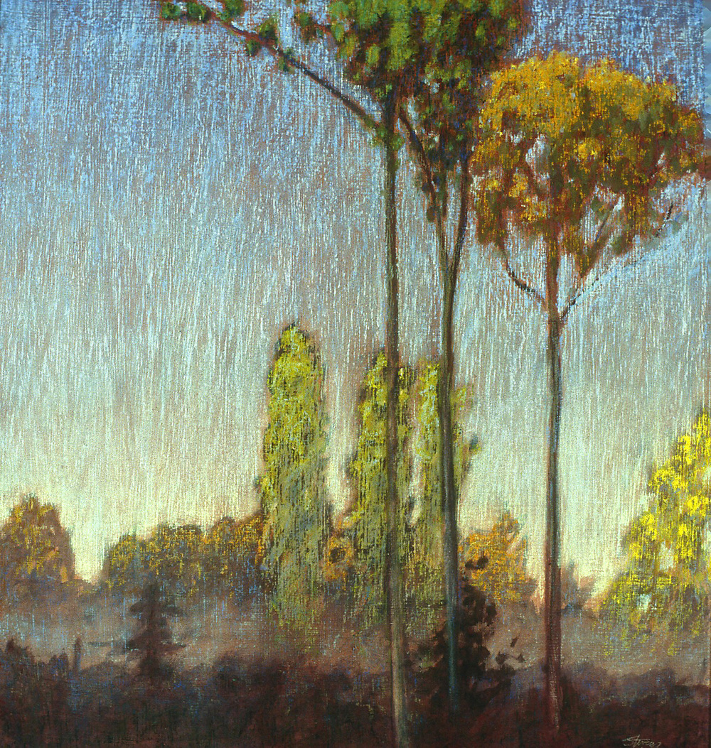 Morning Mist   | pastel on paper | 20 x 19"