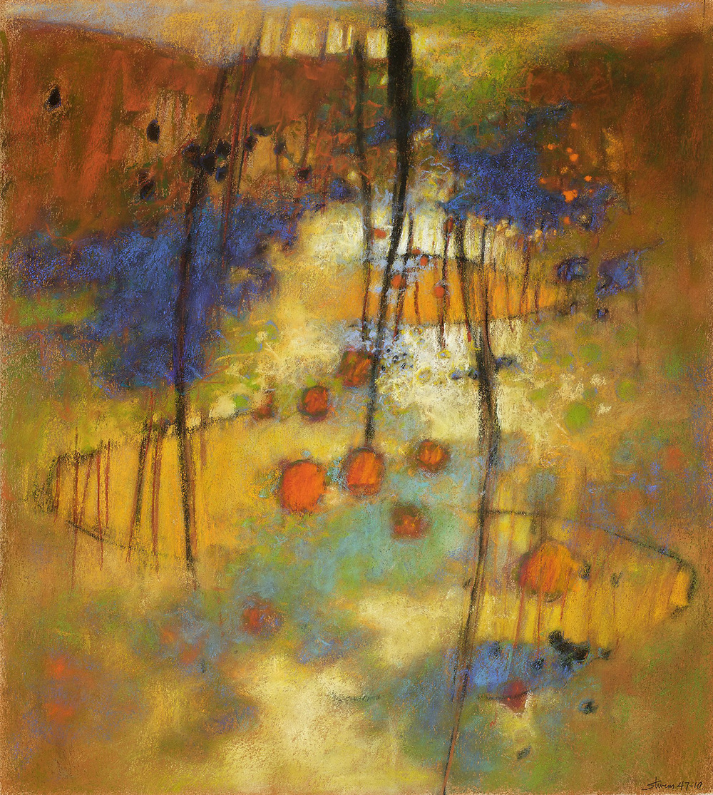 "Neverland   | pastel on paper | 20 x 18"" | 2010"