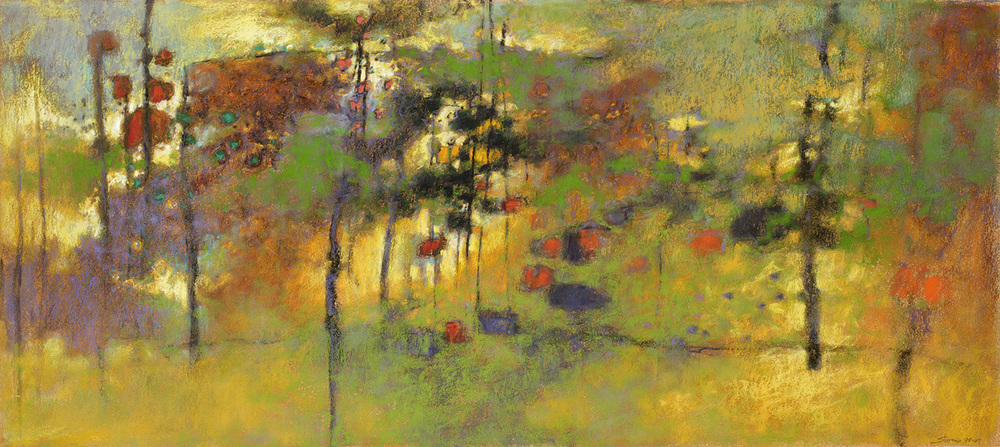 Coming Into View   | pastel on paper | 18 x 40"