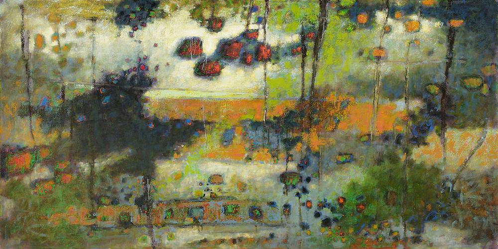 "Threshold   |oil on canvas | 48 x 96"" | 2010"