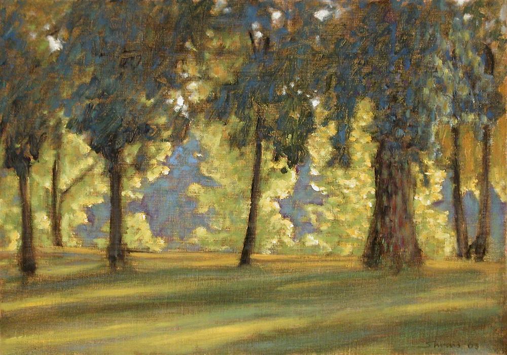 "Riverside Park | oil on canvas | 12 x 17"" | 2003"