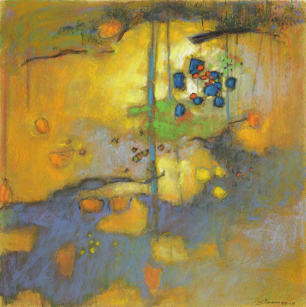 "93-10   | pastel on paper | 14 x 14"" | 2010"