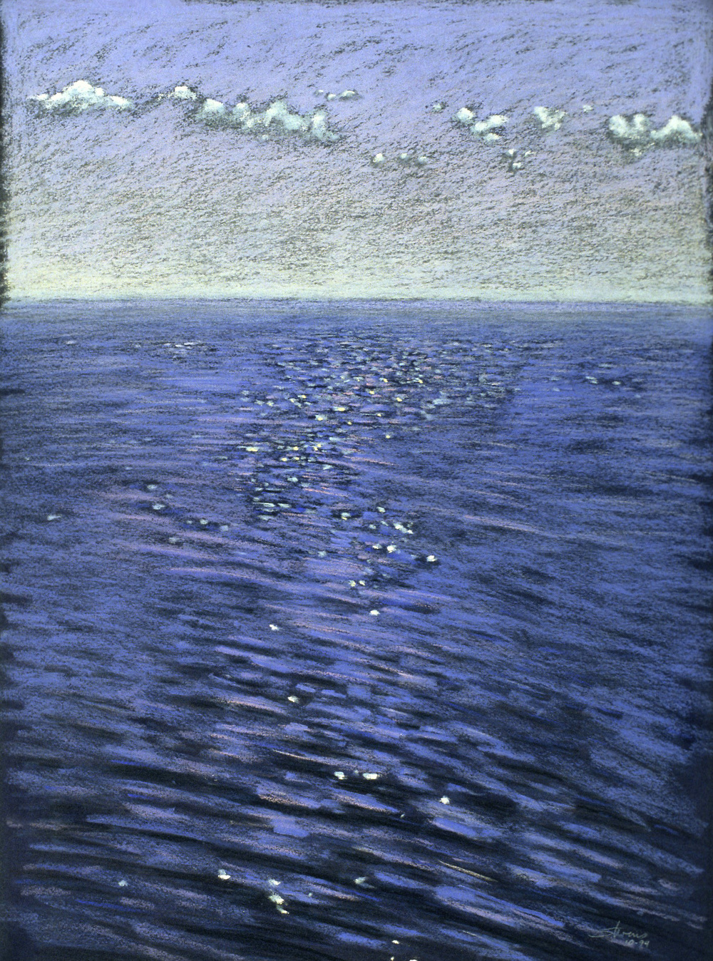 Lake Michigan   | pastel on paper | 22 x 16"