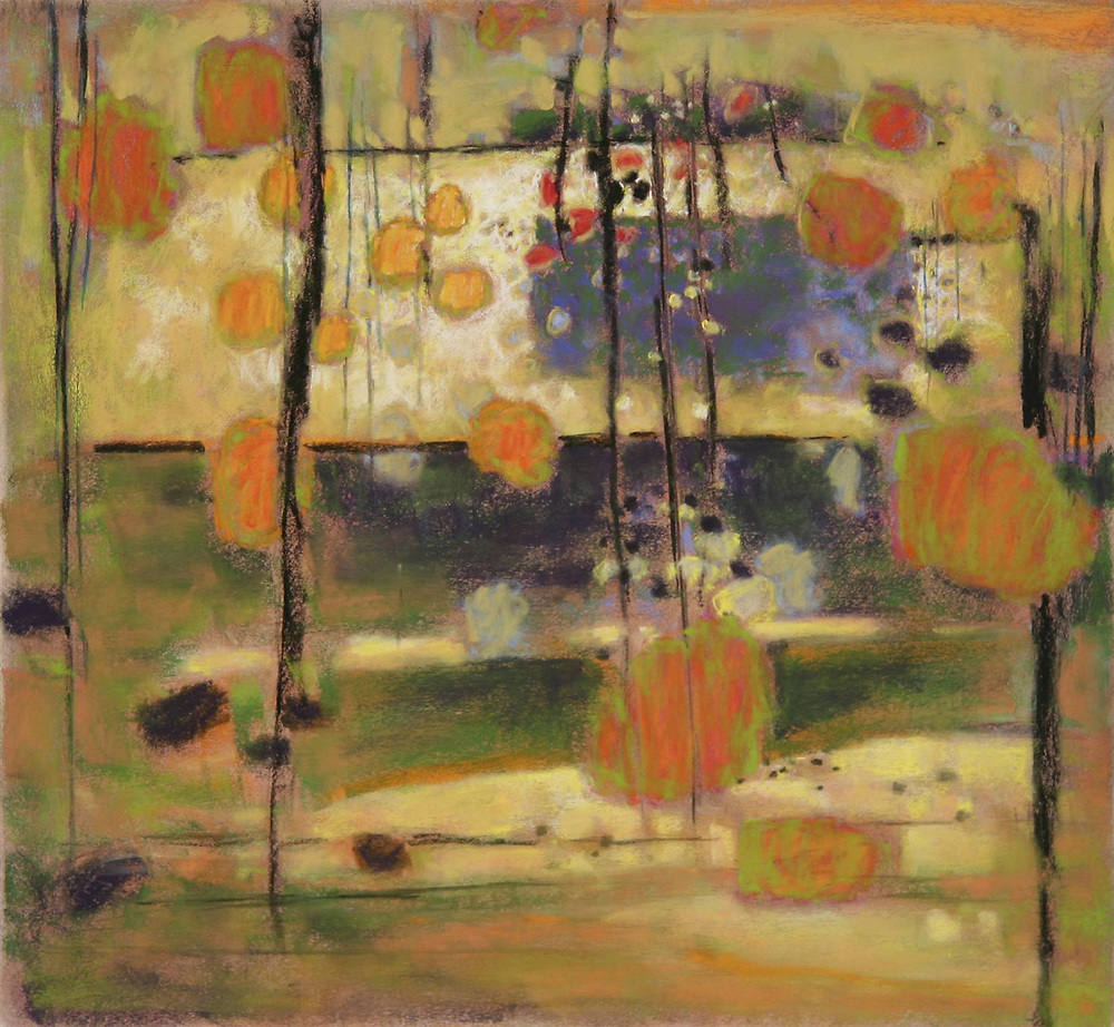 Suspended Radiance | pastel on paper | 24 x 26"