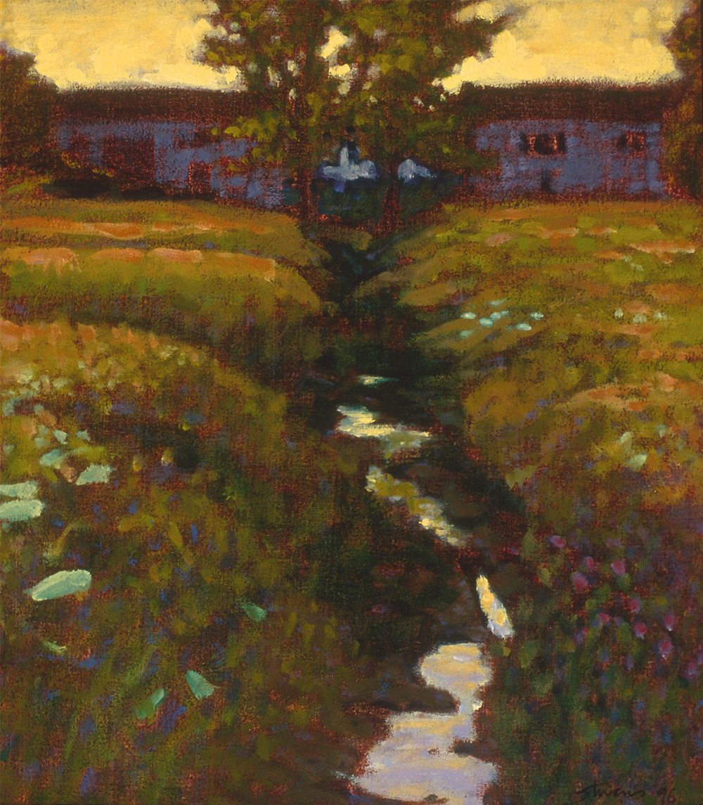 "Summer Field | oil on linen | 14 x 12"" | 1996"