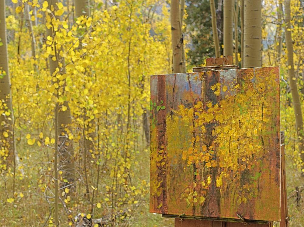 new plein air aspen series painting