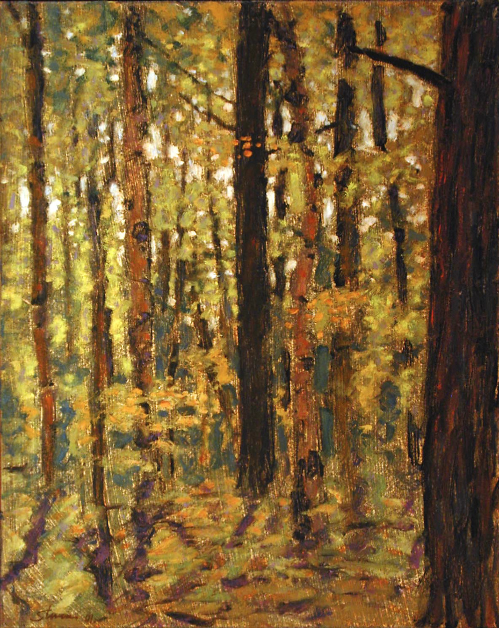 Forest Interior | oil on panel | 15 x 12"