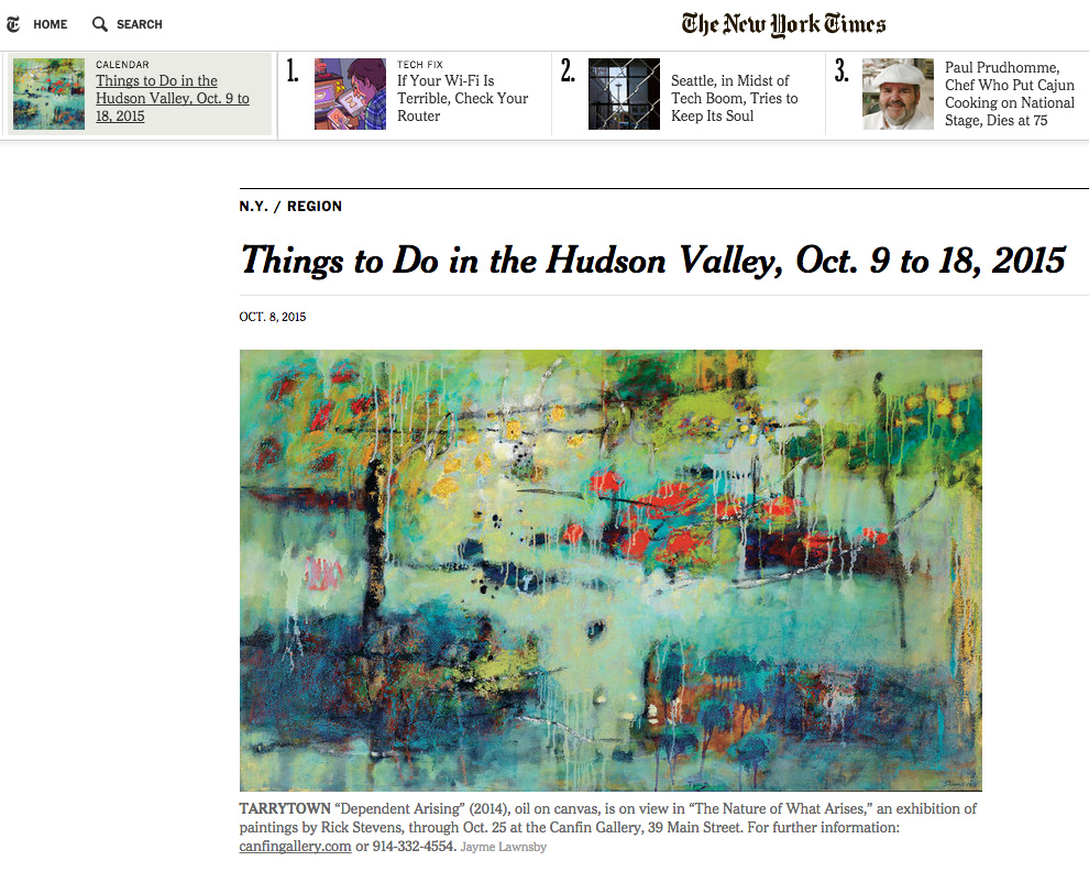 Rick's show, and artwork has been featured in the Culture Guide of the New York Times!