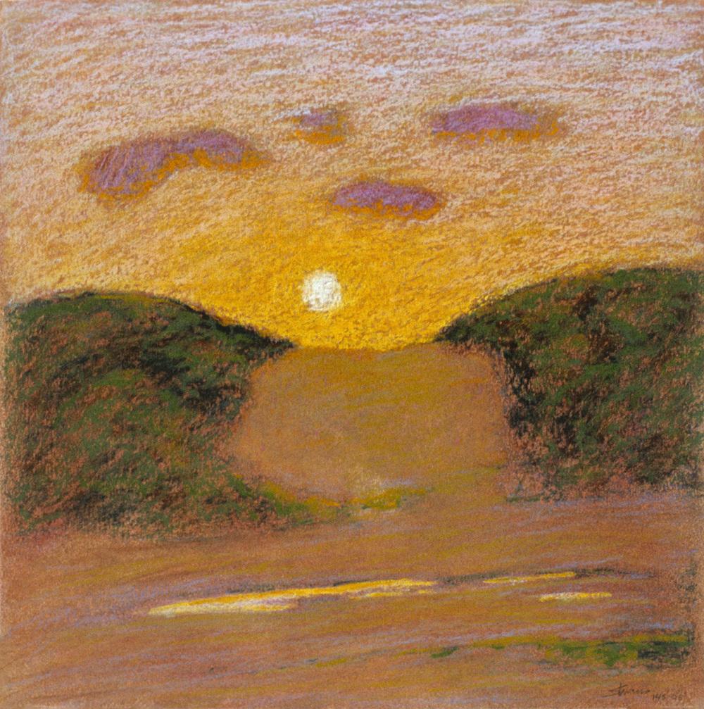 "143-03   | pastel on paper | 14 x 14"" | 2003"