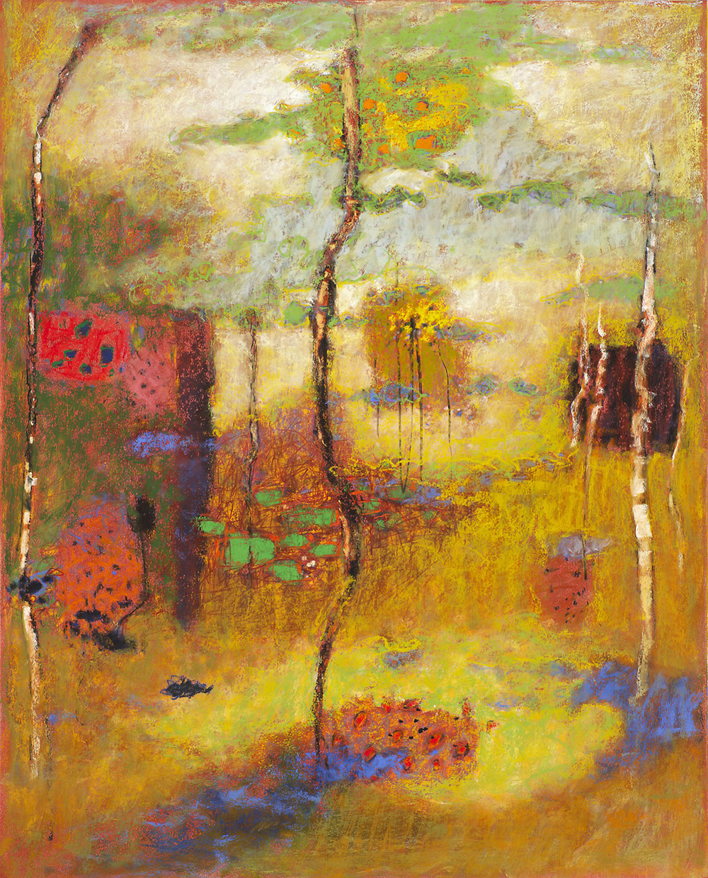 Expansive Interaction   | pastel on paper | 30 x 24"