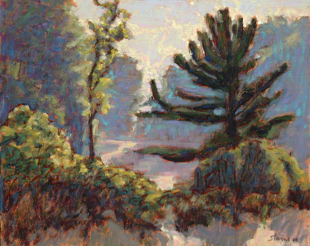 View Up Dunes   | oil on canvas | 12 x 15"