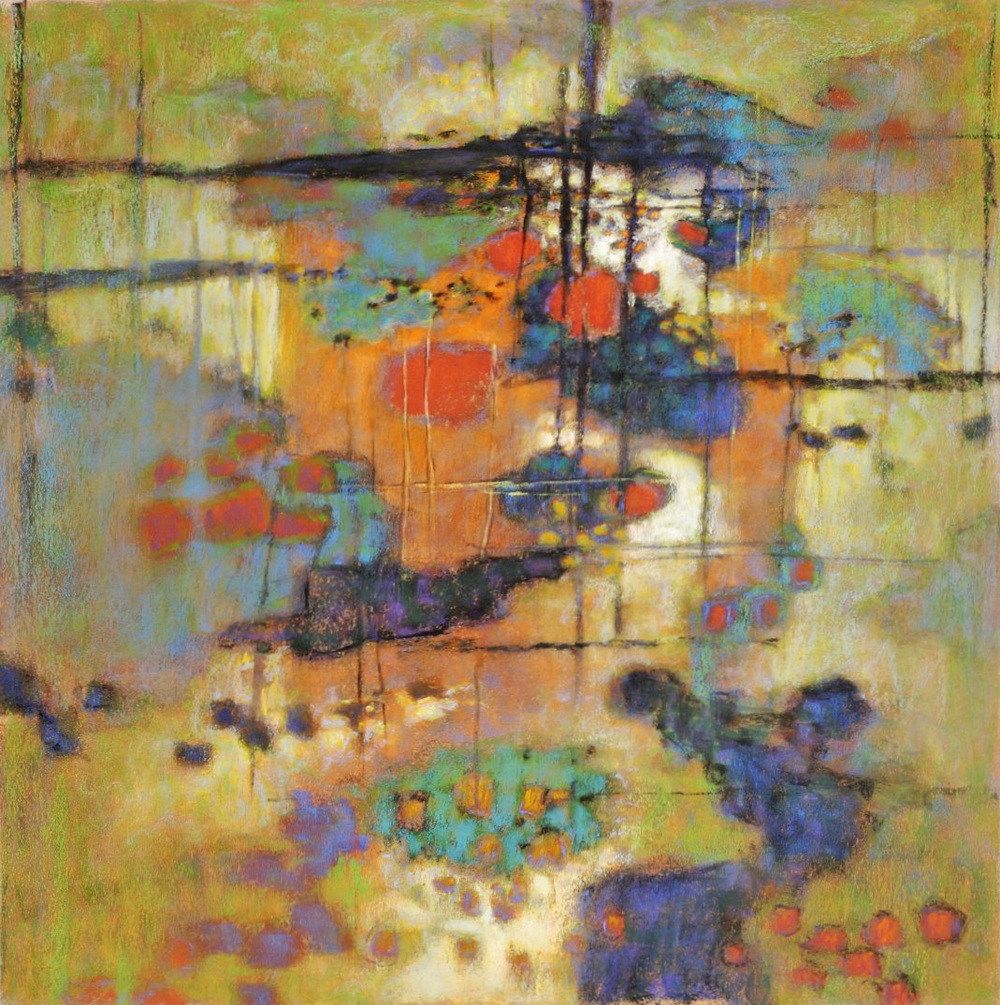 Enchanted Network   | pastel on paper | 26 x 26"