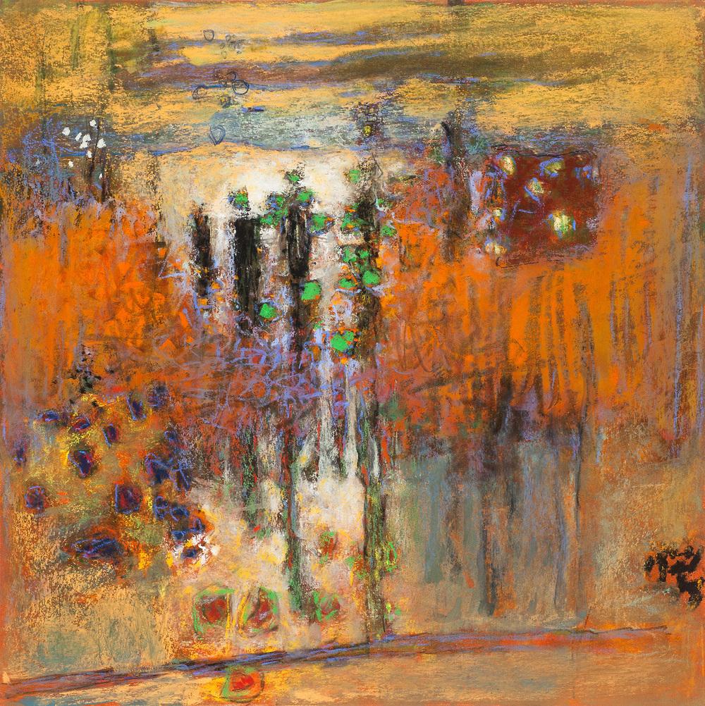 "44-15   | pastel on paper | 14 x 14"" | 2015"