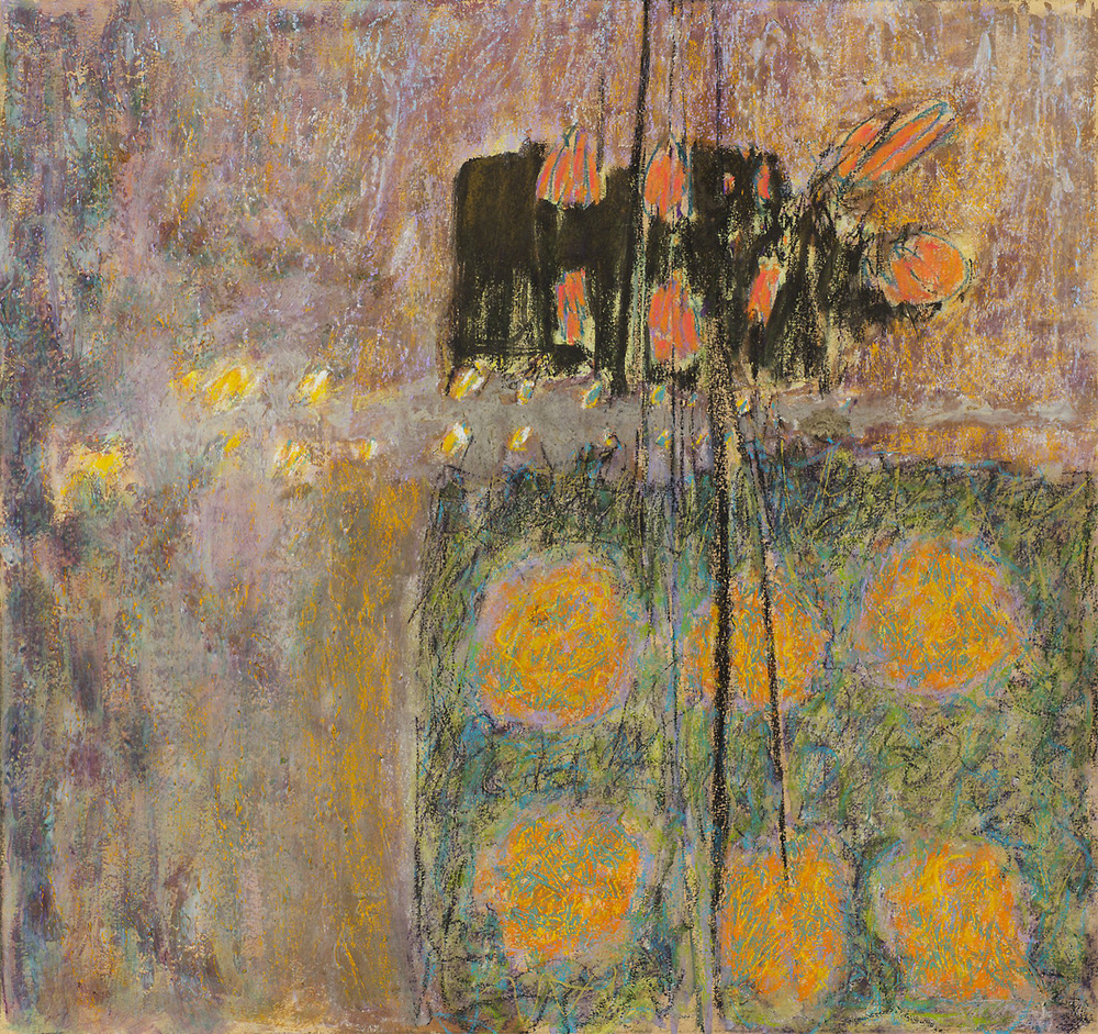 Ripples | mixed media | 18 x 19"