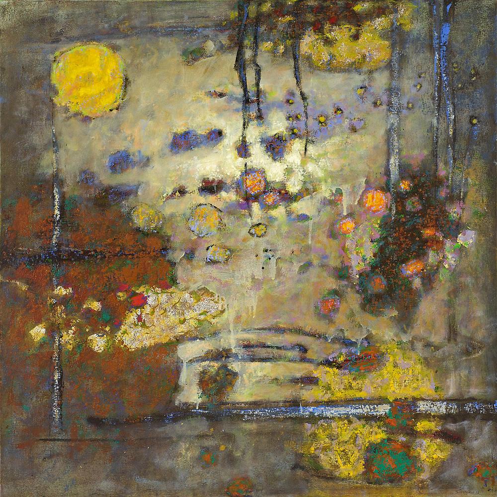 "A Brief Light | oil on canvas | 36 x 36"" | 2011"
