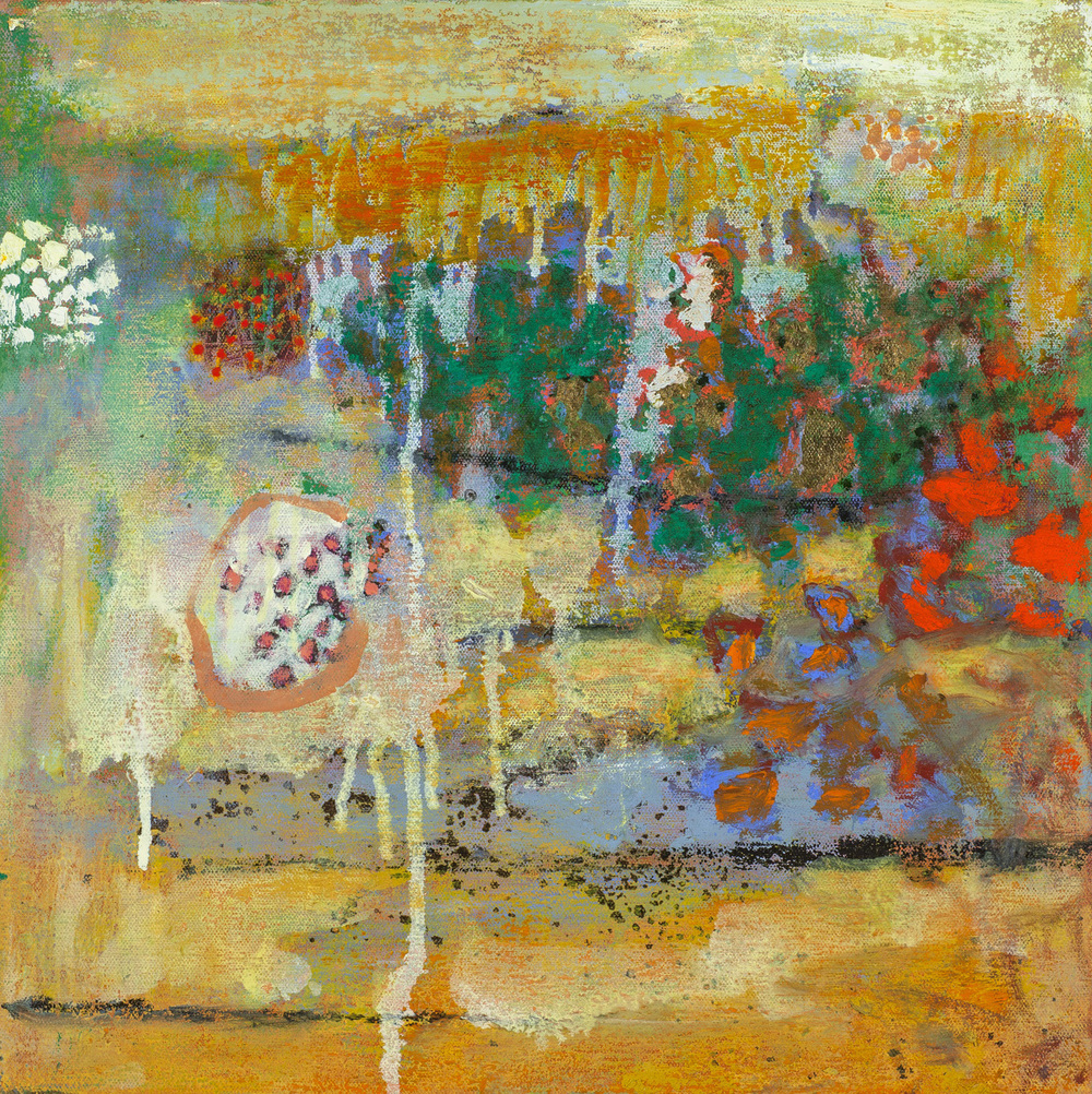 Blossoming Compassion | oil on canvas | 14 x 14"