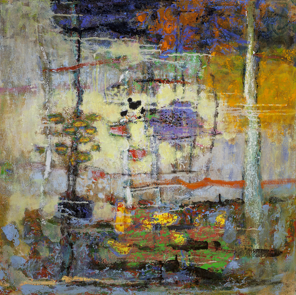 Open Circuitry   | oil on canvas | 28 x 28"