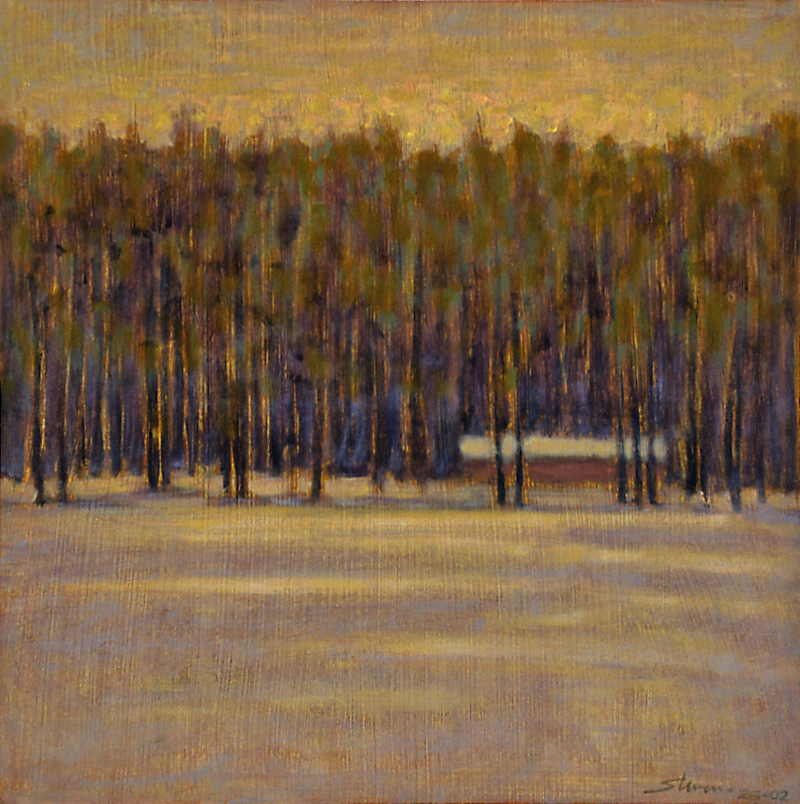 January Evening   | oil on panel | 12 x 12"
