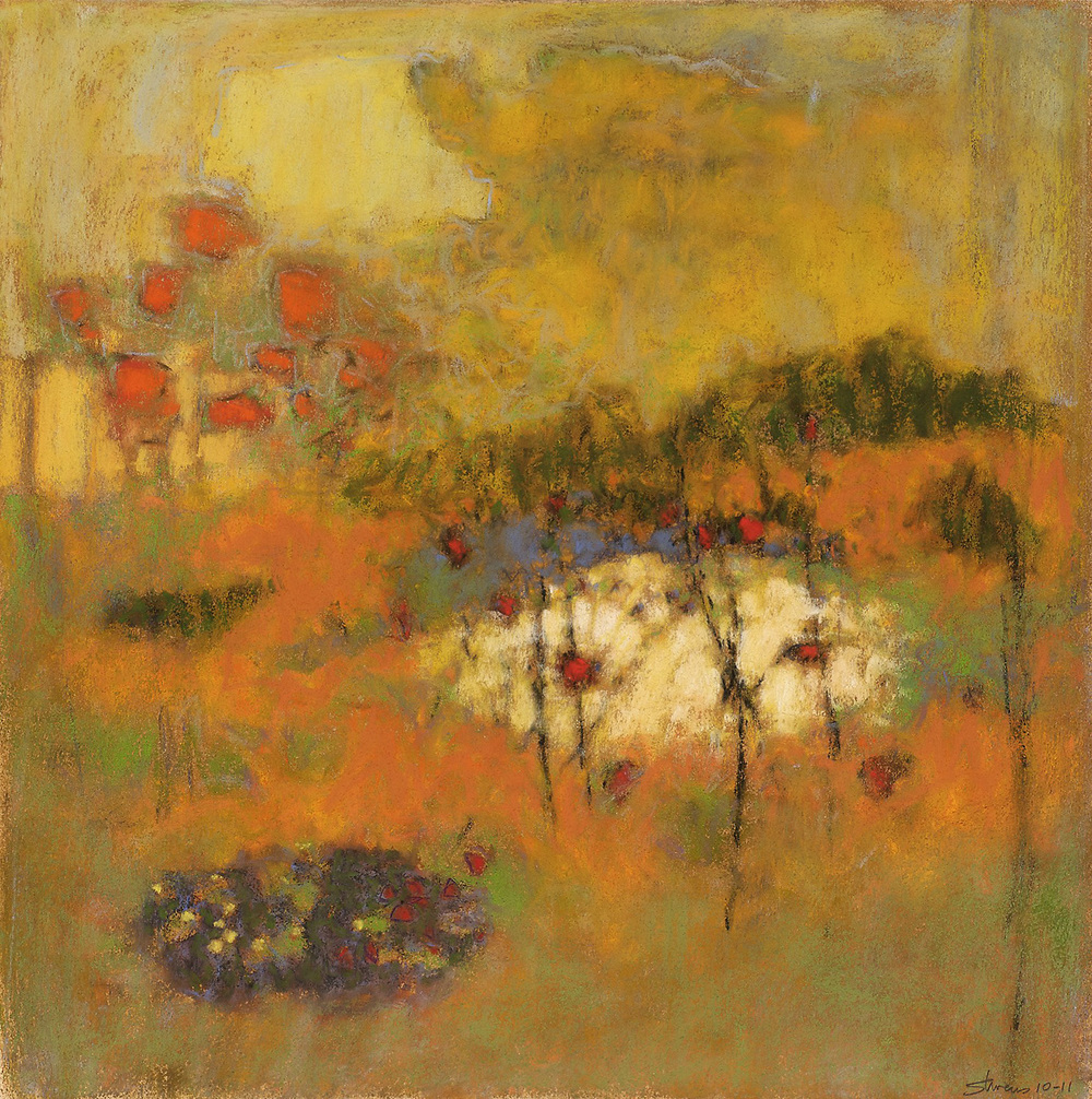 In Golden Light   | pastel on paper | 14 x 14"