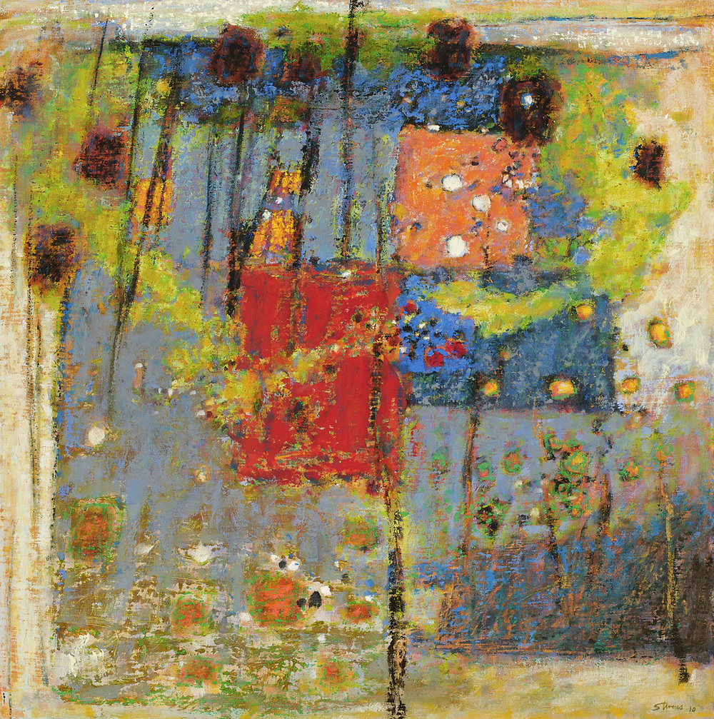 Emergence On the Bud   | oil on canvas | 32 x 32"