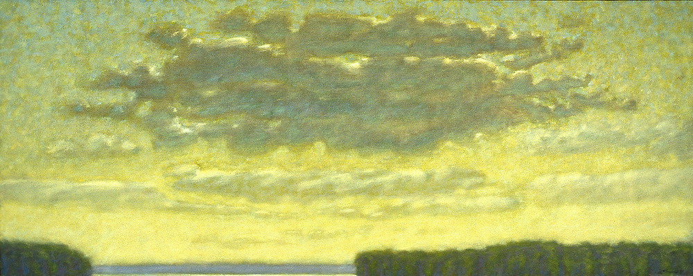 Clouds Over the Bay   | oil on canvas | 24 x 60"