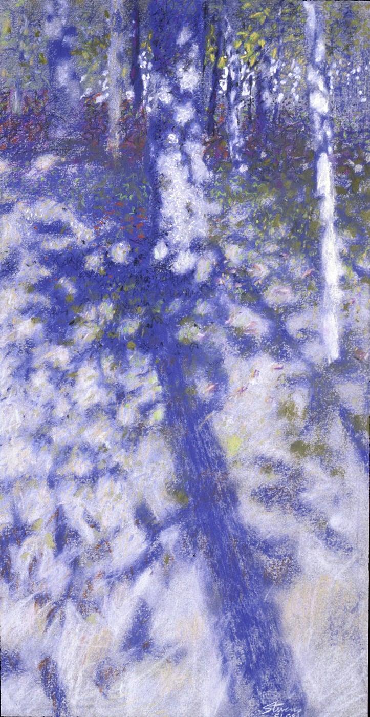 "51-88   | pastel on paper | 18 x 9"" | 1988"