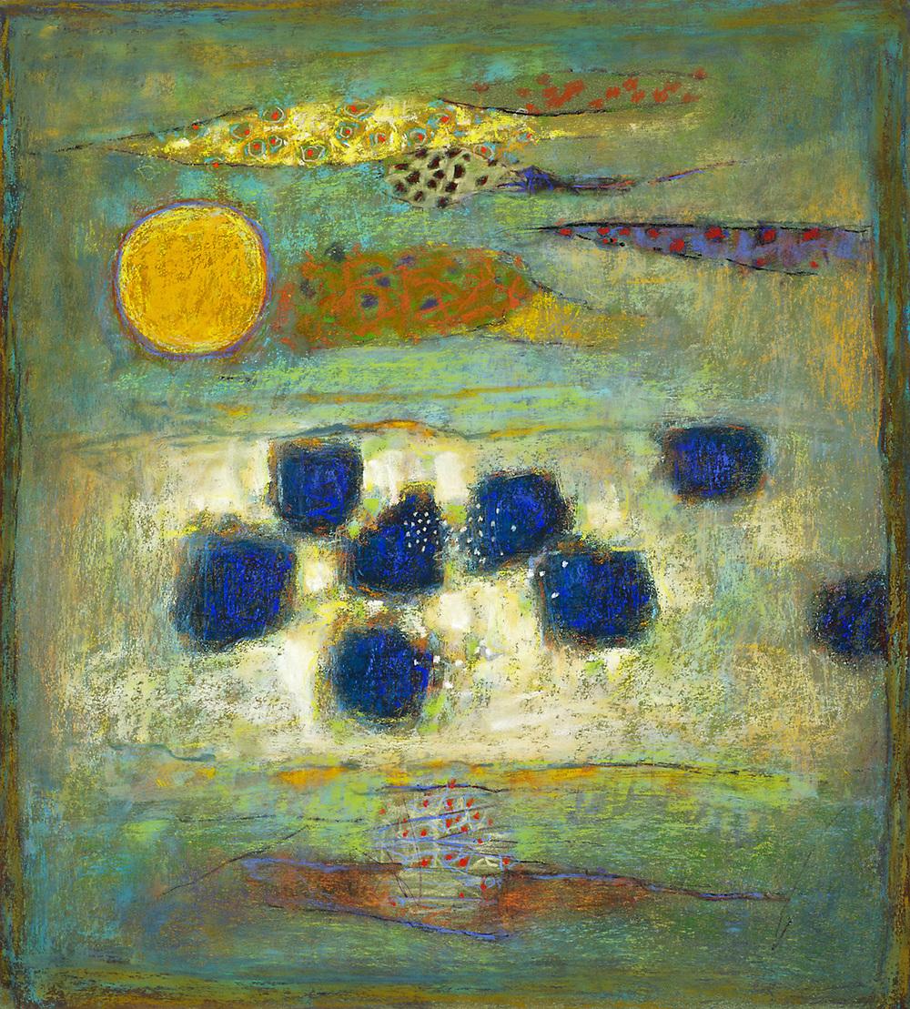"Beckoning Strata     pastel on paper   20 x 18""   2013"
