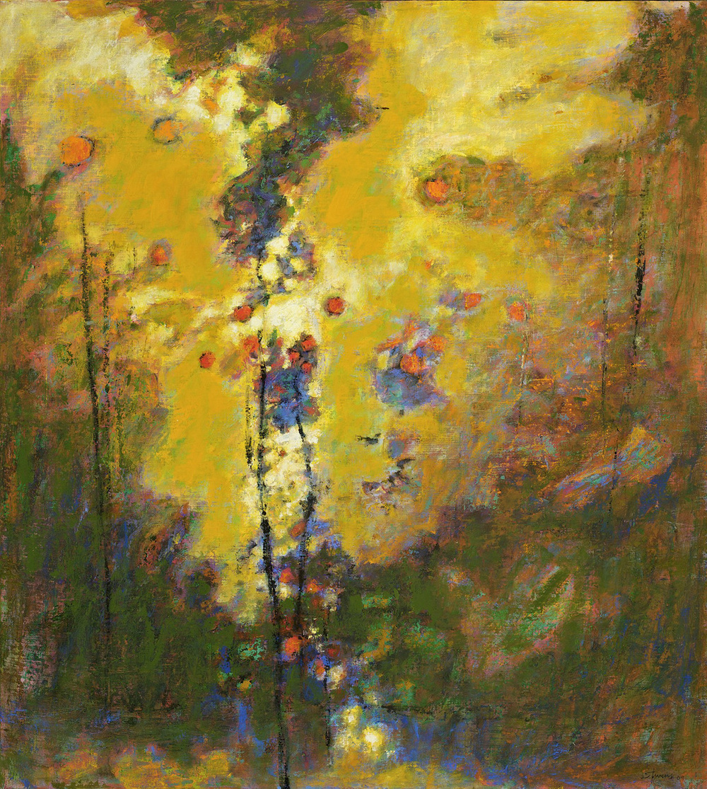 "Spirit Gathering     oil on canvas   40 x 36""   2009"